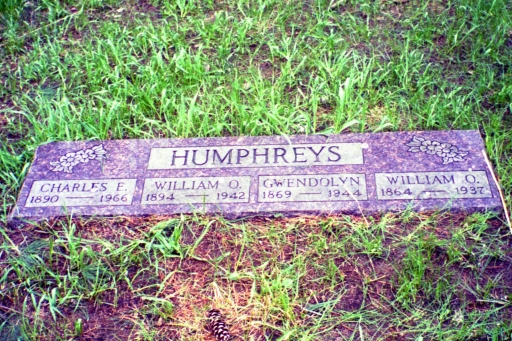 Cotton Cemetery Humphreys Tombstone