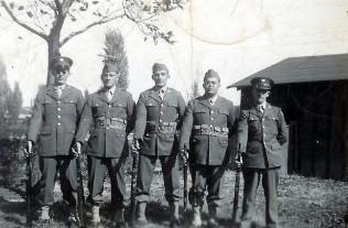 Galkowski, John and Army buddies