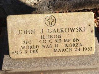 Galkowski, John J Tombstone