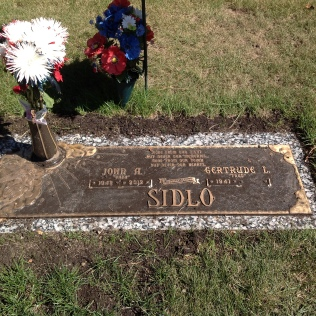 Sidlo, John Tombstone