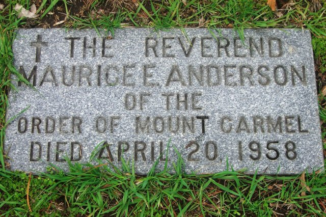 Anderson, M. Edward Tombstone