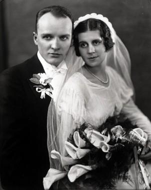 Charles Zaber and Lottie (Wagner) Zaber, Wedding Day - 2